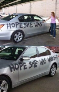Revenge on a cheating boyfriend.