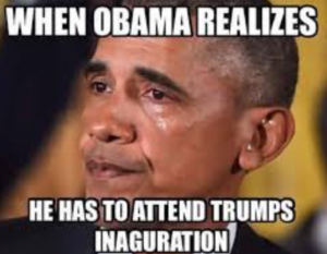 Obama at Trump's Inauguration
